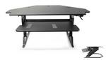 Systematix Volante Corner Desktop Sit To Stand Workstation