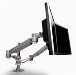 Mayline Pole Mounted Dual Screen Monitor Arm EZKC2