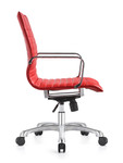 Woodstock Janis Mid Back Red Leather Office Chair