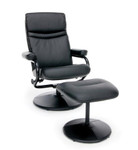 OFM Essentials Leather Recliner and Ottoman ESS-7000