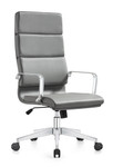 Woodstock Jimi High Back Gray Leather Office Chair
