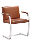 Woodstock Marketing Arlo Contemporary Leather Accent Chair (3 Colors!)
