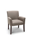 OFM Essentials Tan Fabric Guest Chair with Cherry Legs