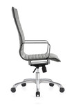 Woodstock Marketing Janis High Back Gray Leather Conference Chair
