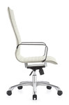 Woodstock Marketing Janis High Back White Leather Conference Chair
