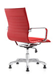 Woodstock Marketing Janis Red Leather Side Chair