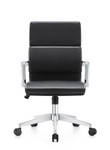 Woodstock Marketing Jimi Mid Back Contemporary Black Leather Office Chair