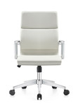 Woodstock Marketing Jimi Mid Back Contemporary White Leather Conference Chair