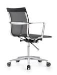 Woodstock Marketing Joan Black Mesh Mid Back Chair
