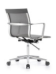 Woodstock Marketing Joan Sleek Gray Mesh Mid Back Conference Chair
