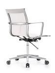 Woodstock Marketing Joan Sleek White Mesh Mid Back Conference Chair