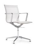 Woodstock Marketing Joan White Mesh Side Chair
