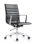 Woodstock Marketing Joe Carbon Black Leather Conference Chair