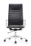 Woodstock Marketing Joe High Back Carbon Black Leather Office Chair
