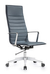 Woodstock Marketing Joe High Back Charcoal Blue Leather Office Chair