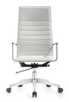 Woodstock Marketing Joe High Back Cloud White Leather Office Chair
