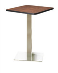 "Mayline Stainless Steel 36"" Bar Height Bistro Table CA36SHS"
