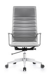 Woodstock Marketing Joe High Back Midtown Gray Leather Office Chair