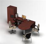 Zira Collaborative P-Island Desk with Storage Tower