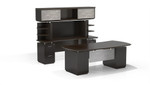 Mayline Sterling Edition Mocha Finished Executive Desk Configuration