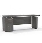Mayline Sterling STC72B Executive Credenza Desk with BBF Pedestal (3 Finishes Available!)