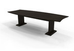 Mayline Sterling STC8 Mocha Finished 8' Boat Shaped Conference Table