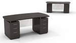 Mayline Sterling STED72B Bow Front Double Pedestal Desk (3 Finishes Available!)