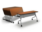 "Mayline Sync Series 54"" x 18"" Mobile Training Table That Nests SY1854"