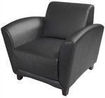 Mayline VCC1MAHB Santa Cruz Collection Black Leather Chair