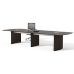 Medina 12' Mocha Finished Conference Table by Mayline (Available With Power!)