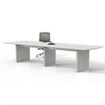 mnc12tss model medina 12' conference table with sea salt finish