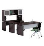 medina u shaped desk with mocha finish