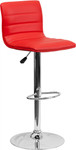 Cool Armless Bar Stool with Red Vinyl Upholstery by Flash Furniture