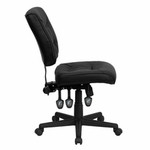 flash furniture armless leather task chair side view
