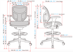 Eurotech Seating Concept 2.0 Extended Height Stool