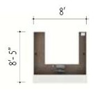 u shaped reception desk dimensions