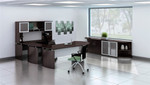 medina mocha office furniture set
