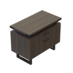 mirella southern tobacco lateral file cabinet with black accent trim