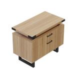 mirella sand dune laminate file cabinet with black accent trim