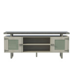 stone gray mirella low wall cabinet
