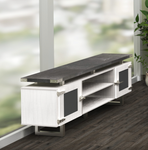 mirella low wall cabinet mrlwcgd with stone gray top and white ash base