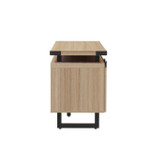 safco low wall cabinet side view