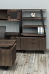 southern tobacco mirella bookcase atop lateral file cabinet
