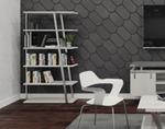 mirella 5 shelf bookcase with white ash finish