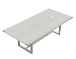 8' white ash mirella table