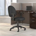 bush business furniture black fabric task chair with arms