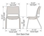 ki doni stack chair dimensions