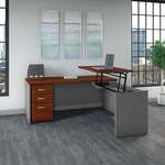 bbf series c sit to stand l shaped desk