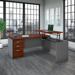 src126 bush business furniture l desk with hansen cherry finish