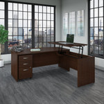 src126 bush business furniture l desk with mocha cherry finish